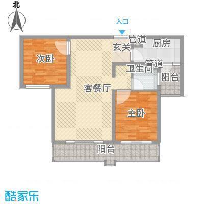 中太・阳光半岛12.70㎡3-4#、21-23#B户型2室2厅1卫