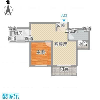 中太・阳光半岛83.72㎡3-4#、21-23#E户型1室2厅1卫