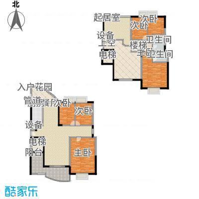 瑞景公园163.00㎡12#楼中楼-B户型3室2厅2卫1厨