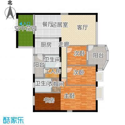 扬名海邑A栋A2平面图户型3室2厅1卫