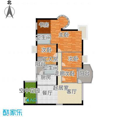 扬名海邑A栋A1平面图户型3室2厅2卫