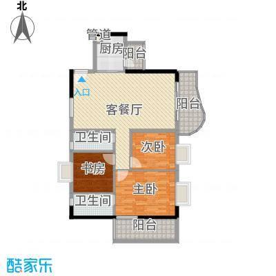 禹洲世纪海湾112.70㎡E型户型3室2厅2卫1厨