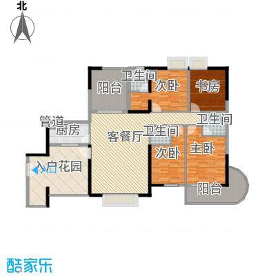 禹洲世纪海湾175.80㎡A/D型户型4室2厅3卫1厨