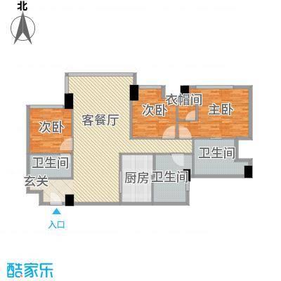 朗豪东港18.34㎡D栋1-3户型3室2厅3卫1厨
