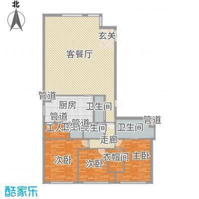 朗豪东港234.62㎡D栋5-2户型4室2厅4卫1厨
