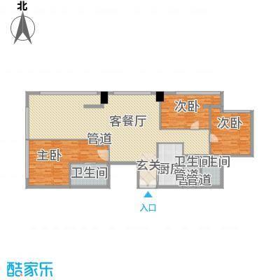 朗豪东港221.80㎡D栋1-2户型3室2厅3卫1厨