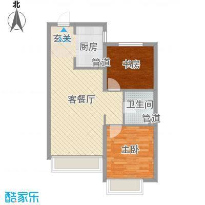 中国铁建青秀蓝湾82.00㎡中国铁建户型