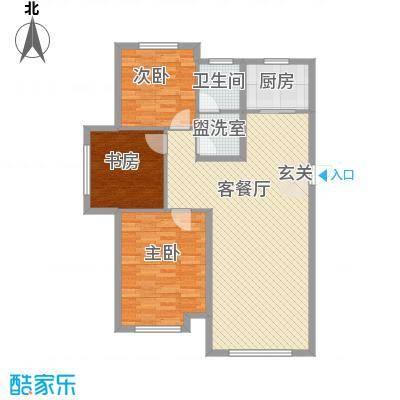中国铁建青秀蓝湾122.00㎡中国铁建户型