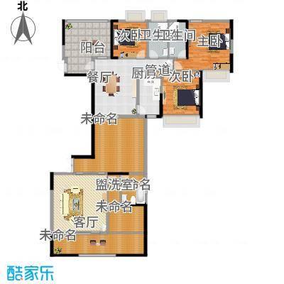 路福江韵华府三房两厅三卫198.7平米户型-副本