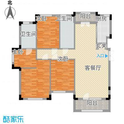 保利西山林语13.00㎡B22号楼、5号楼D3户型3室2厅2卫1厨