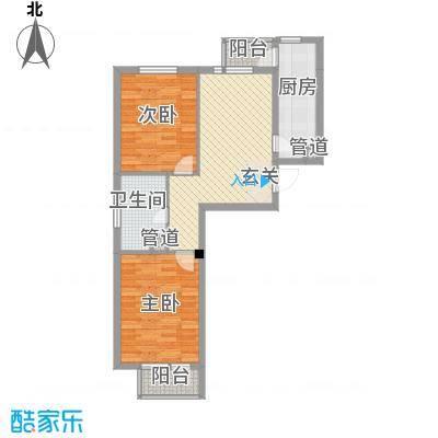 糖果社区二期7.76㎡125#楼A户型2室1厅1卫1厨