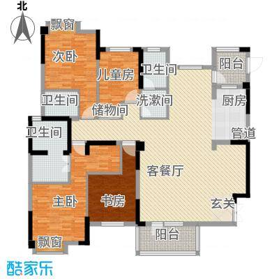 王家湾中央生活区13.00㎡16号楼B8户型4室2厅3卫1厨