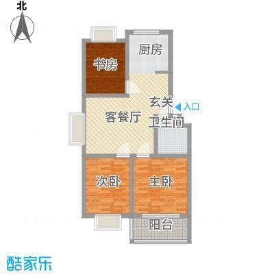 金都北苑多层售完户型3室2厅1卫1厨