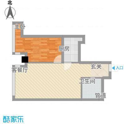 富强城74.43㎡305#楼P户型2室1厅1卫1厨