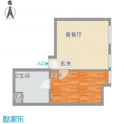 新世界名泷63.00㎡东塔S2户型1室1厅1卫1厨