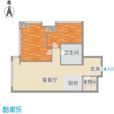 新世界名泷125.78㎡东塔A1户型2室2厅2卫1厨