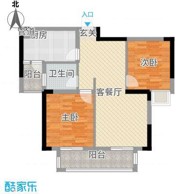 清江山水33期69号楼2A户型