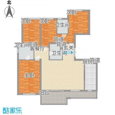 万科翡丽山17.00㎡26-28栋标准层D户型4室2厅3卫1厨