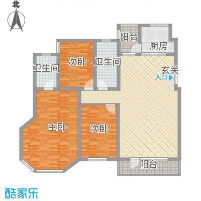 中体奥林匹克花园7.18㎡120号楼A户型3室2厅1卫1厨