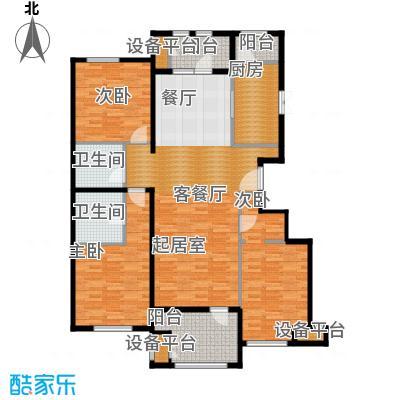 龙湖・香醍溪岸135.00㎡纳景怡筑户型3室2厅2卫-副本
