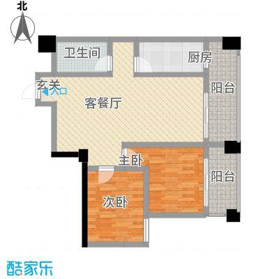 华鼎雍王府2#C户型2室2厅1卫1厨