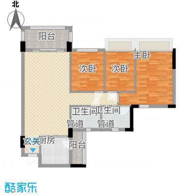 康桥活力城12.00㎡1栋08户型3室2厅2卫1厨