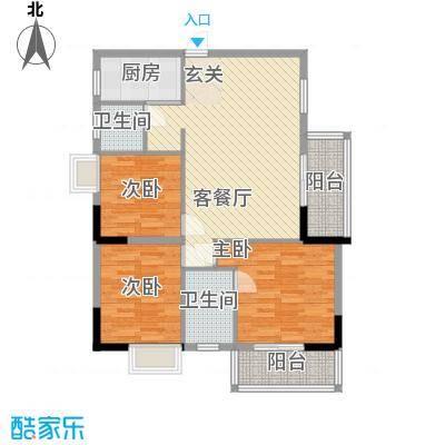 永江花园香溪16.00㎡1栋A户型3室2厅2卫1厨