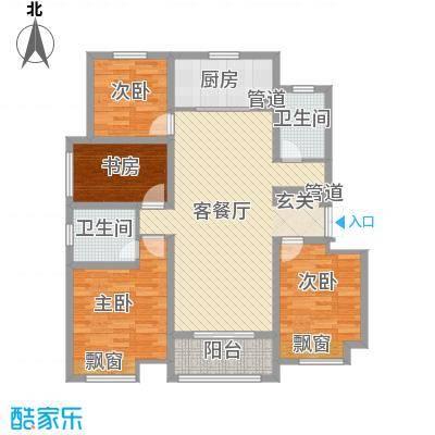 鑫苑景城14.20㎡洋房D户型4室2厅2卫1厨