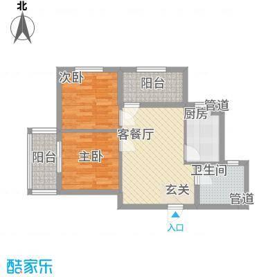新希望乐城66.80㎡7号楼A户型2室1厅1卫1厨