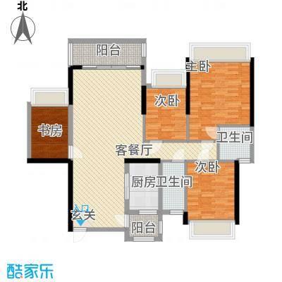 五洲家园141栋04、142栋03户型4室2厅2卫1厨