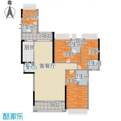 五洲家园17.00㎡143栋03、145栋02户型4室2厅2卫1厨