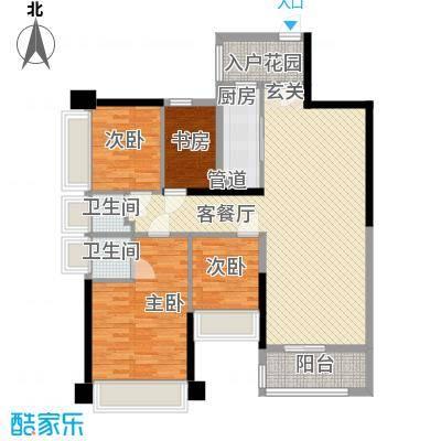五洲家园7.00㎡E3户型4室2厅2卫1厨