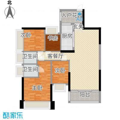 五洲家园12.00㎡141、142栋01、02户型4室2厅2卫1厨