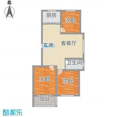 龙凤花园126.00㎡四期小高层2户型3室2厅1卫1厨