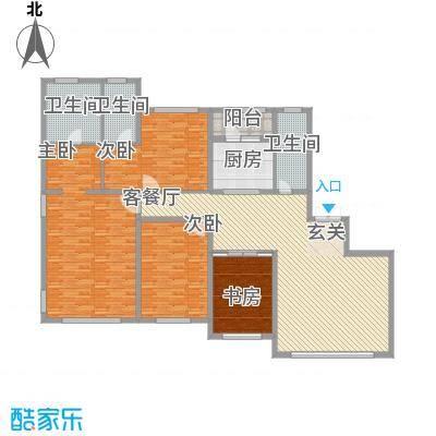 国宝星月湾237.00㎡6号楼户型4室2厅3卫1厨