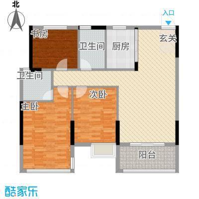 坤龙西城国阙1-C户型