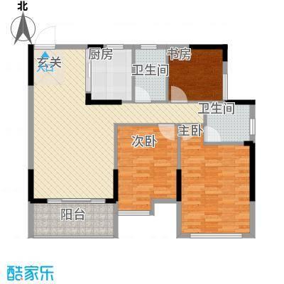 坤龙西城国阙1-E户型