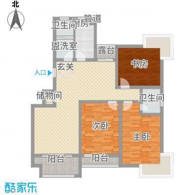 水清木华143.00㎡小高层A户型3室2厅2卫1厨