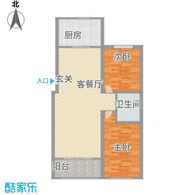 水语青城6.00㎡户型2室2厅2卫1厨