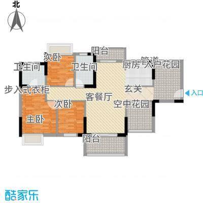 锦地繁花115.00㎡13/15栋03户型3室2厅2卫1厨