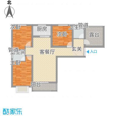 城林一号院11.41㎡A户型3室2厅2卫1厨