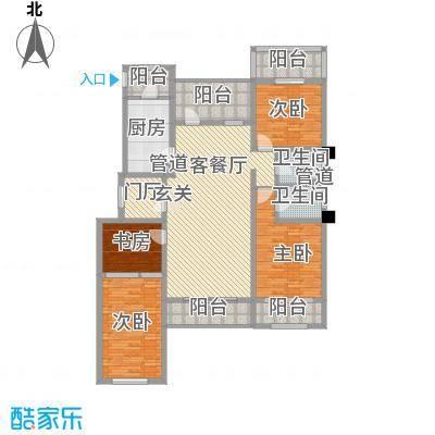 中铁诺德龙湾15.10㎡洋房2层户型