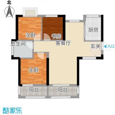 中大十里新城6.00㎡6、7号楼F1户型3室2厅1卫1厨