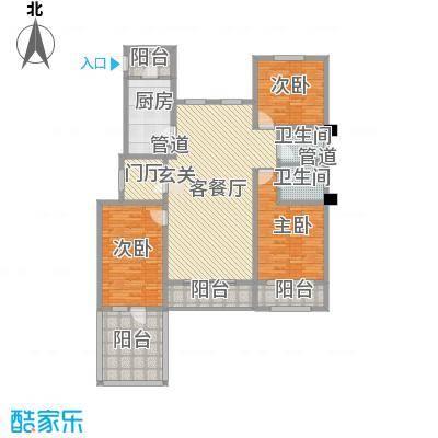 中铁诺德龙湾151.00㎡洋房3层户型
