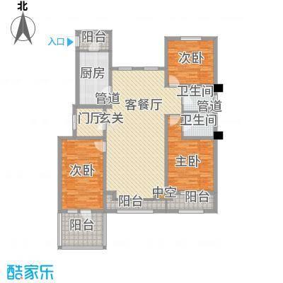 中铁诺德龙湾14.00㎡洋房4层户型