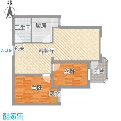 浅水湾畔18户型2室2厅1卫1厨