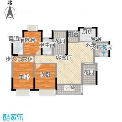 世纪城幸福公馆4栋奇数层宝格丽户型