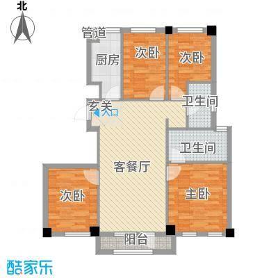 缇香漫城117.00㎡B4户型3室2厅1卫1厨