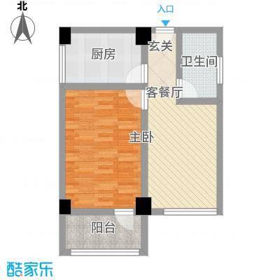 华都凤凰山庄65.86㎡公寓2户型1室1厅1卫1厨