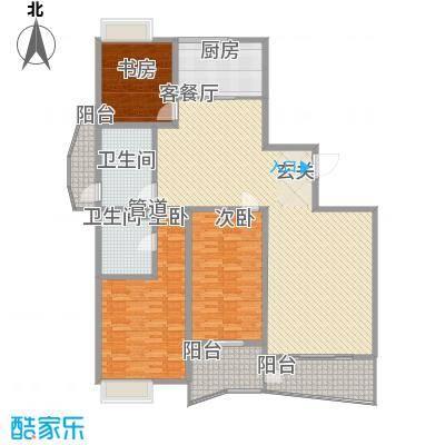 新富专家公寓177.00㎡高层住宅B户型3室2厅2卫1厨